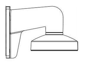 Aluminium muurbeugel ipcamera contour